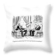 I Aspired To Authenticity Throw Pillow
