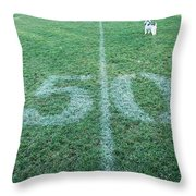 50 Yard Mascot Throw Pillow