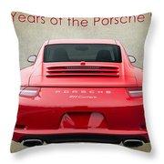 50 Years Of The Porsche 911 E182 Throw Pillow