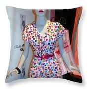 50's Fashion Throw Pillow