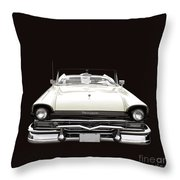 50s Ford Fairlane Convertible Throw Pillow