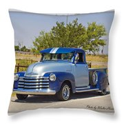 51 Chevy Pick Up Throw Pillow