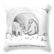 This Is Really Embarrassing. I've Forgotten Throw Pillow