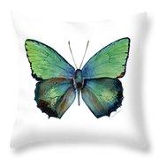 52 Arhopala Aurea Butterfly Throw Pillow
