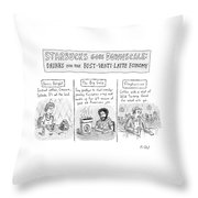 New Yorker April 14th, 2008 Throw Pillow