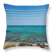 53- Be Happy Throw Pillow