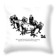 We're Grateful That You're Here Throw Pillow