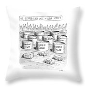 The Coffee Shop Vats Of New Jersey Throw Pillow