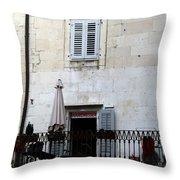 Views Of Split Croatia Throw Pillow
