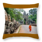 54 Gods And A Monk Throw Pillow