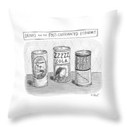 Drinks For The Post-caffeinated Economy Throw Pillow