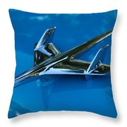 55 Chevrolet Hood Ornament Throw Pillow