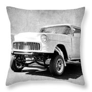 55 Gasser Art Throw Pillow