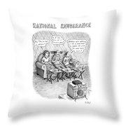 Rational Exuberance Throw Pillow