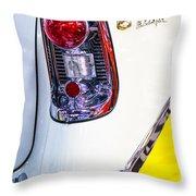56 Chevy Bel-air Tail Light Throw Pillow