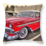 56 Classic Chevy Throw Pillow