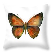 56 Copper Jewel Butterfly Throw Pillow by Amy Kirkpatrick