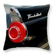 56 Ford Thunderbird Throw Pillow