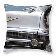 57 Bel Air Hood Rockets Throw Pillow