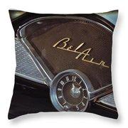 57 Chevy Bel Air Dash Throw Pillow
