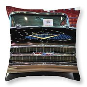 '57 Chevy Bel Air Show Car Throw Pillow