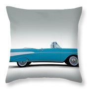 57 Chevy Convertible Throw Pillow