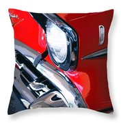 57 Chevy Front End Palm Springs Throw Pillow