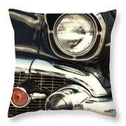 57 Chevy Headlight Throw Pillow