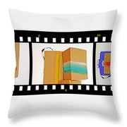 57 Contact Strip Throw Pillow