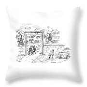 New Yorker July 11th, 2005 Throw Pillow