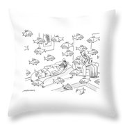 New Yorker May 5th, 2008 Throw Pillow