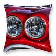 58 Vette Lights Throw Pillow