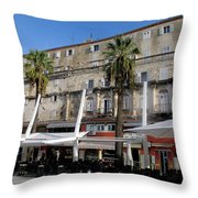Views Of Split Croatia Throw Pillow