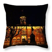 5am At Port Hope Town Hall Throw Pillow