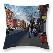 5th Ave Park Slope Brooklyn Throw Pillow