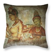 5th Century Cave Frescoes Throw Pillow
