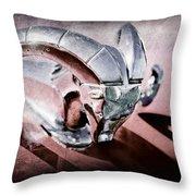 1952 Dodge Ram Hood Ornament Throw Pillow