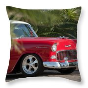 1955 Chevrolet 210 Throw Pillow