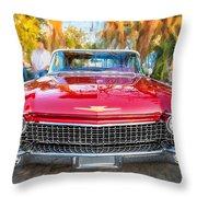 1960 Cadillac Eldorado Biarritz Convertible Painted  Throw Pillow
