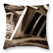 1966 Ferrari 275 Gtb Steering Wheel Emblem Throw Pillow