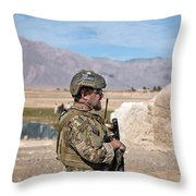A Coalition Force Member Maintains Throw Pillow
