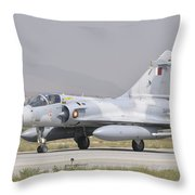 A Qatar Emiri Air Force Mirage 2000 Throw Pillow
