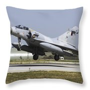 A Qatar Emiri Air Force Mirage Throw Pillow