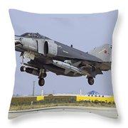A Turkish Air Force F-4e-2020 Throw Pillow