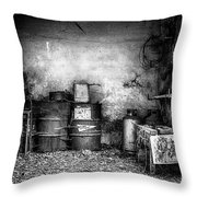 Abandoned Sanatorium Throw Pillow