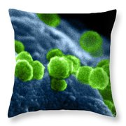 Aids Virus Throw Pillow