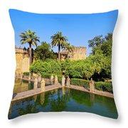 Alcazar In Cordoba Throw Pillow