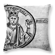 Alfred The Great (849-899) Throw Pillow