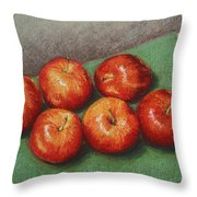 6 Apples Washed And Waiting Throw Pillow