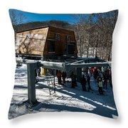 At The Ski Resort Throw Pillow